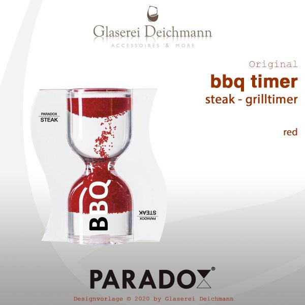 paradox bbq timer steak timer eieruhr sanduhr rot 4260355933200 grill timer