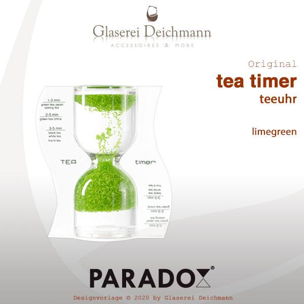Paradoxe Tea Timer teeuhr Limegreen 4260355933194