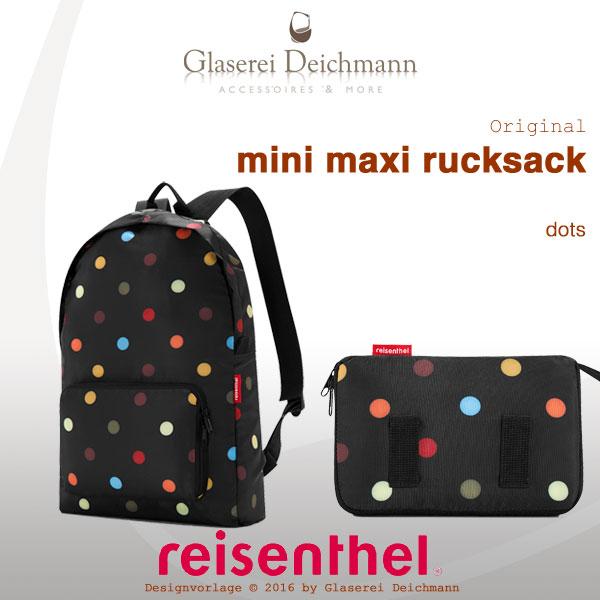 mini maxi rucksack by reisenthel dots ap7009 faltbare. Black Bedroom Furniture Sets. Home Design Ideas
